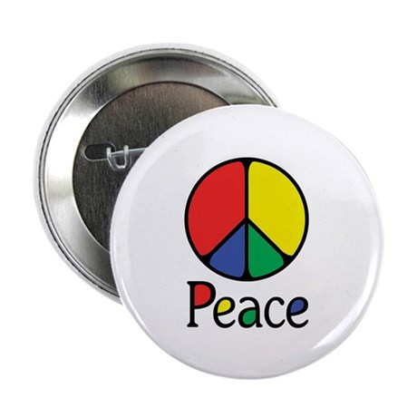 "Emphatic Peace Colours 2.25"" Button (100 pack)"