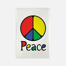 Emphatic Peace Colours Rectangle Magnet