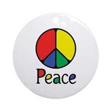 Emphatic Peace Colours Ornament (Round)
