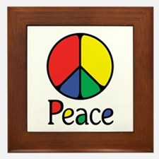 Emphatic Peace Colours Framed Tile