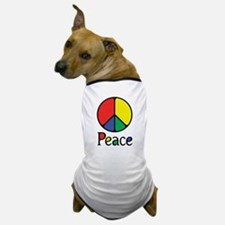 Emphatic Peace Colours Dog T-Shirt