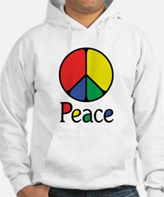 Emphatic Peace Colours Jumper Hoody