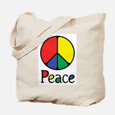 Emphatic Peace Colours Tote Bag