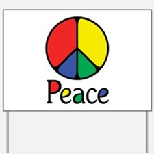 Emphatic Peace Colours Yard Sign