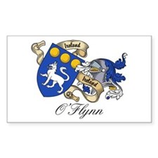 O'Flynn Family Coat of Arms Rectangle Decal