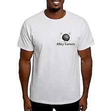 Alley Gators Logo 1 T-Shirt Design Front Poc