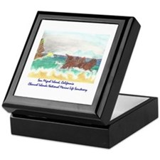 San Miguel Island, California Keepsake Box