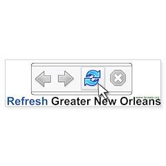 Refresh Greater New Orleans Bumper Bumper Sticker