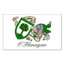 O'Flanagan Family Crest Rectangle Decal