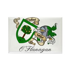 O'Flanagan Family Crest Rectangle Magnet