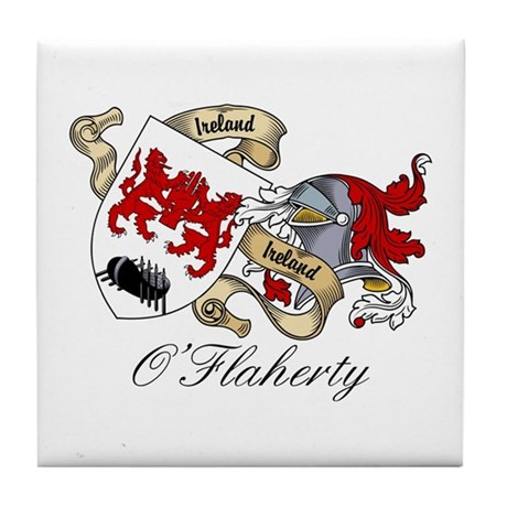 O'Flaherty Family Coat of Arms Tile Coaster