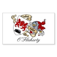 O'Flaherty Family Coat of Arms Sticker (Rectangula