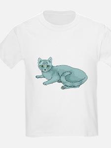 Russian Blue Cat Kids T-Shirt