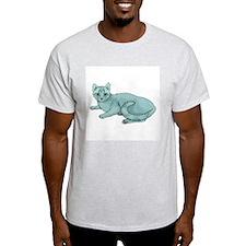 Russian Blue Cat Ash Grey T-Shirt