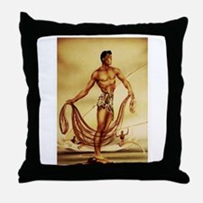 'Hawaiian Fisherman' Throw Pillow