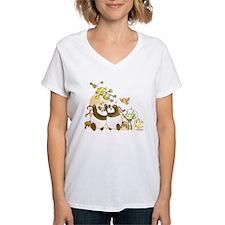 Happy Birthday, Robot! Women's V-Neck T-Shirt