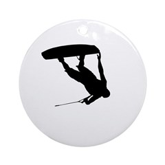 Wakeboard Invert Tail Grab Ornament (Round)
