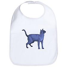 Russian Blue Cat Portrait Bib
