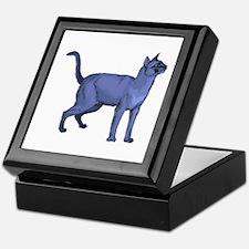 Russian Blue Cat Portrait Keepsake Box
