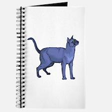 Russian Blue Cat Portrait Journal