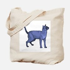 Russian Blue Cat Portrait Tote Bag