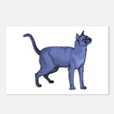 Russian Blue Cat Portrait Postcards (Package of 8)
