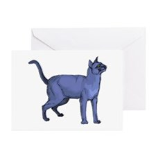 Russian Blue Cat Portrait Greeting Cards (Package