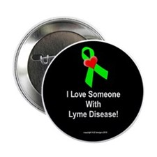 """I Love Someone With LD - 2.25"""" button"""