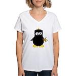 Ninja Penguin Women's V-Neck T-Shirt