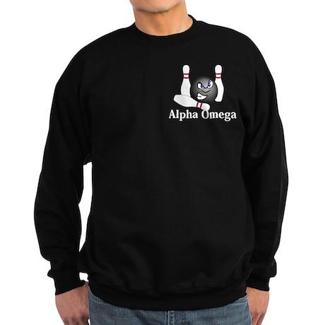Apha Omega Logo 5 Sweatshirt (dark) Design Front P