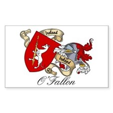 O'Fallon Family Crest Rectangle Decal