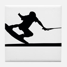 Funny Wakeboarding Tile Coaster