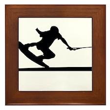 Funny Wakeboard Framed Tile