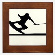 Cute Silhouette Framed Tile