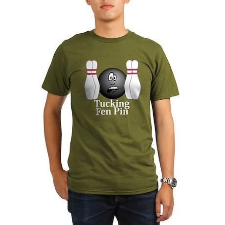 Tucking Fen Pin Logo 4 Organic Men's T-Shirt (dark