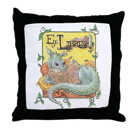 Dragon Reader Throw Pillow