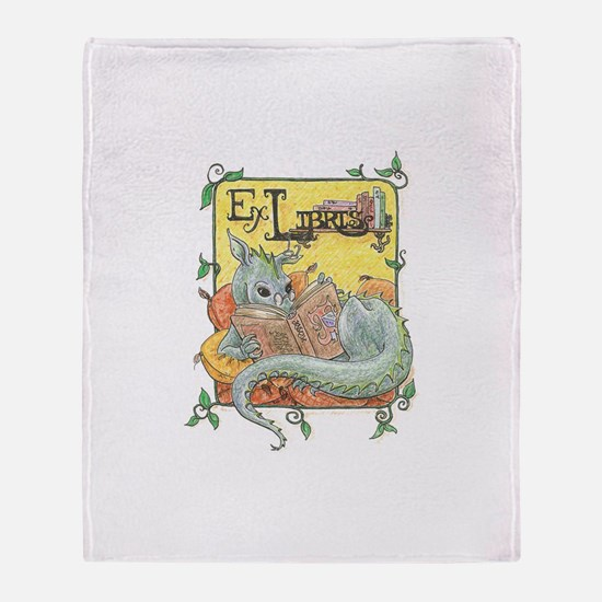 Dragon Reader Throw Blanket