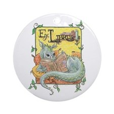 Dragon Reader Ornament (Round)