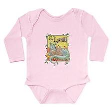 Dragon Reader Long Sleeve Infant Bodysuit