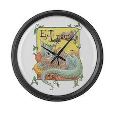 Dragon Reader Large Wall Clock