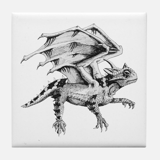 Flying Horny Toad Tile Coaster