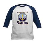 Momma's Lil' Sailor Kids Baseball Jersey