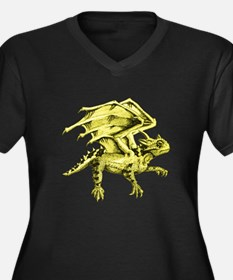 Flying Horny Toad Women's Plus Size V-Neck Dark T-
