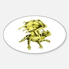 Flying Horny Toad Sticker (Oval)