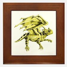 Flying Horny Toad Framed Tile