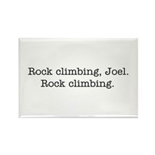Rock climbing, Joel. Rectangle Magnet