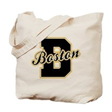 Boston Letter Tote Bag
