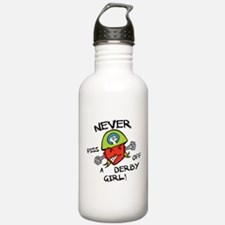 Never Piss Off A Derby Girl! Water Bottle