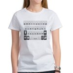 Qwerty Keyboard Women's T-Shirt