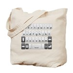 Qwerty Keyboard Tote Bag
